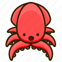 animal, ocean, sea, squid icon