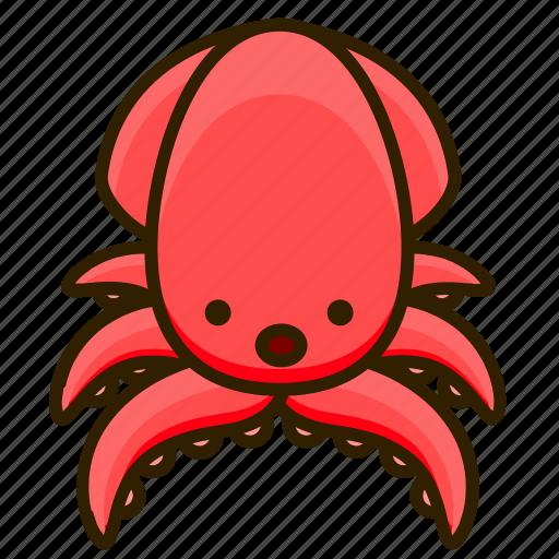Animal, ocean, sea, squid icon - Download on Iconfinder
