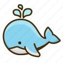 water, animal, whale