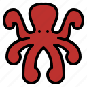 animal, life, octopus, wild, zoo icon