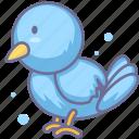 animal, bird, fly icon