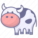 animal, cow, mike icon