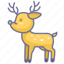 deer, pet, zoo icon
