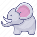 animal, animals, elephant, zoo icon
