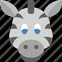 animal, avatar, avatars, zebra icon