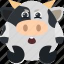 animal, cow, disbelief, emoji, emoticon, emotion