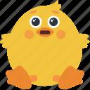 animal, chick, embarassed, emoji, emoticon, emotion icon