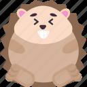 animal, emoji, emoticon, emotion, excited, hedgehog