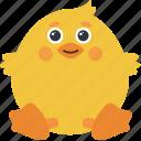 animal, chick, emoji, emoticon, emotion, happy icon