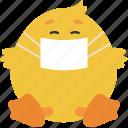 animal, chick, emoji, emoticon, emotion, ill icon