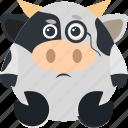 animal, cow, emoji, emoticon, emotion, inspector icon