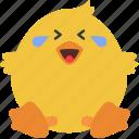 animal, chick, emoji, emoticon, emotion, laugh icon