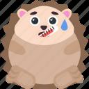 animal, emoji, emoticon, emotion, hedgehog, temperature