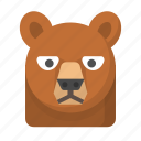 animals, bear, brown bear, mammal, wild, wildlife, zoo icon