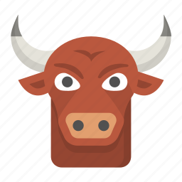 aggressive, agriculture, bull, cattle, intimidate, ox icon