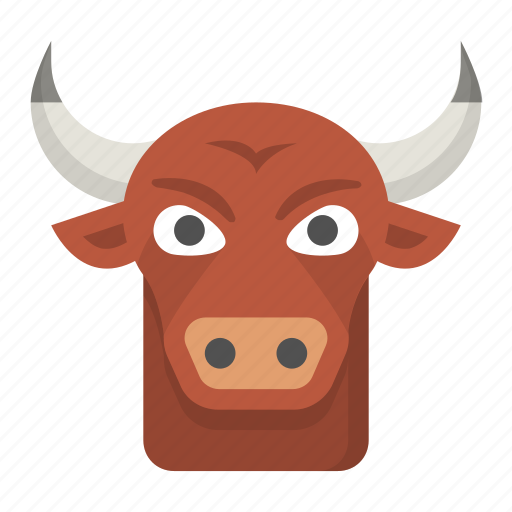 Aggressive Agriculture Bull Cattle Intimidate Ox Icon