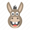 donkey, ass, jackass, democrat, animal, emoji