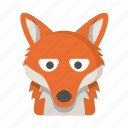 animal, coyote, fox, nature, wild, wildlife, wolf icon