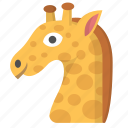 giraffe, wildlife, animal, africa, zoo, safari, emoji