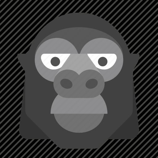 animal, gorilla, monkey, safari, wildlife, zoo icon
