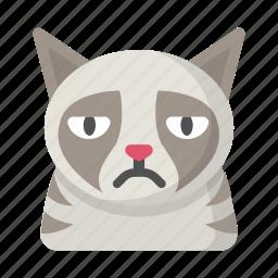 cat, emoji, frown, grumpy, kitten, meme, sad icon