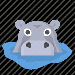 animal, hippo, hippopotamus, jungle, safari, wildlife, zoo icon