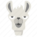 llama, unimpressed, face, animal, bored, expression, emoji