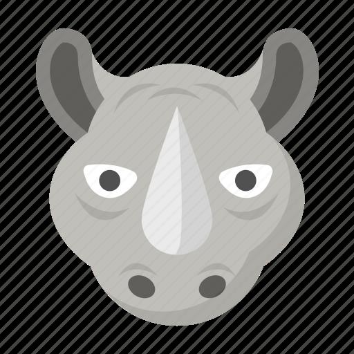 Rhino, rhinoceros, safari, wild, wildlife, zoo icon - Download on Iconfinder