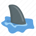 danger, learking, ocean, shark, sharkfin, sharky icon