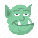 character, halloween, monster, ogre, shrek, spooky, troll icon