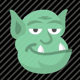 character, halloween, monster, ogre, shrek, spooky, troll icon