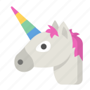 fairy, fantasy, legend, magic, magical, myth, unicorn icon