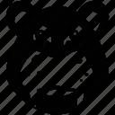 animal, animal face, hippo, hippo face, hippopotamus icon