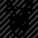deer, reindeer, reindeer face, wapiti icon