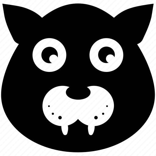 animal face, cartoon panther face, panther, panther head icon