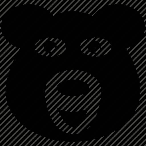 animal face, cartoon animal face, gorilla, gorilla face icon