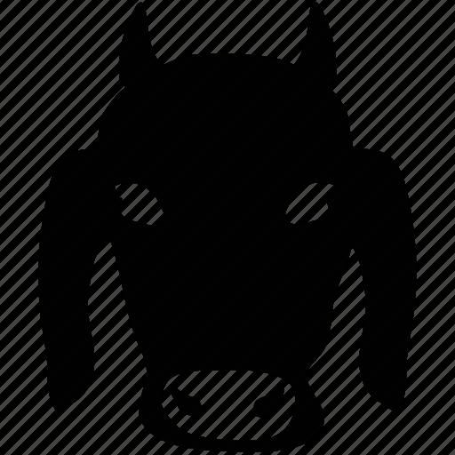 cartoon animal, cow, cow face, mammal icon