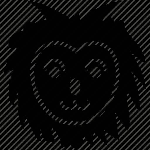 cartoon animal, cartoon animal face, pekingese, pekingese face icon