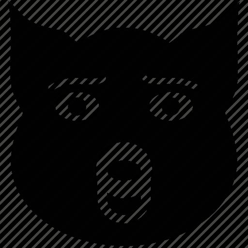 animal, brush wolf, coyote, face, fox, prairie wolf icon