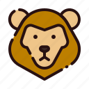 animal, carnivore, cartoon, fauna, leo, lion, zoo icon