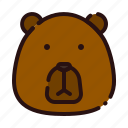 animal, bear, carnivore, cartoon, fauna, head, zoo