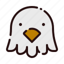 animal, bird, cartoon, fauna, herbivore, pet, zoo icon