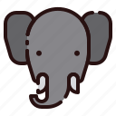 animal, bishop, cartoon, elephant, fauna, herbivore, zoo icon