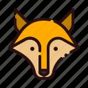animal, carnivore, cartoon, fauna, fox, wolf, zoo icon
