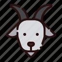 animal, cartoon, farm, fauna, goat, herbivore, zoo