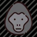 animal, cartoon, fauna, gorilla, herbivore, monkey, zoo