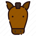 animal, cartoon, farm, fauna, herbivore, horse, zoo icon