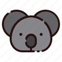 animal, austalia, cartoon, fauna, herbivore, koala, zoo icon
