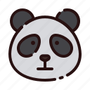 animal, bear, cartoon, fauna, herbivore, panda, zoo
