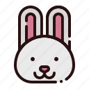 animal, bunny, cartoon, fauna, herbivore, rabbit, zoo icon